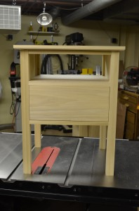 Matt's Basement Workshop Bedside table
