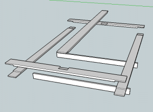 Platform bed undercarriage