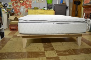 platform bed with mattress