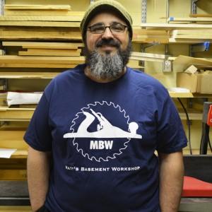 Matt in MBW Classic Logo t-shirt