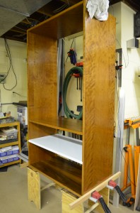 Cherry plywood cabinet
