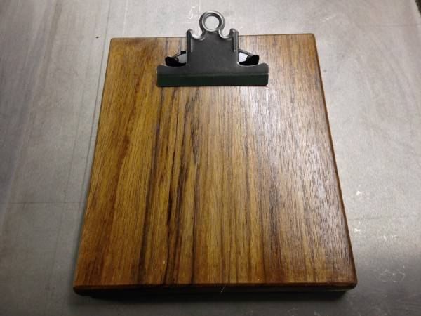 small wood clipboard