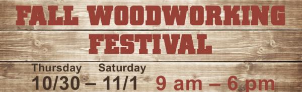 CU woodshop fall festival logo