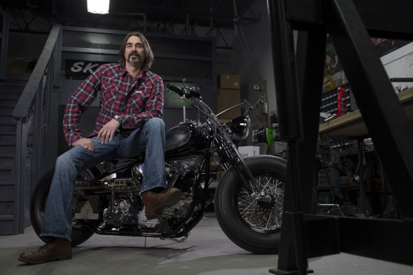 Host Eric Gorges, Metal Shaper and renowned Motorcycle Builder