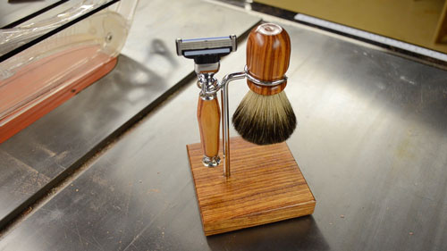 turned shaving kit