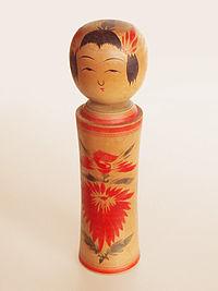 wood kokeshi doll