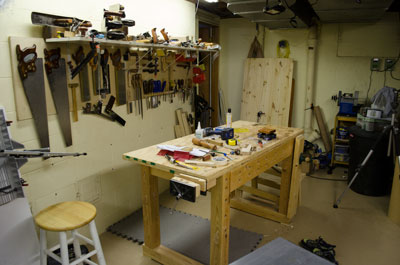 workbench away from wall