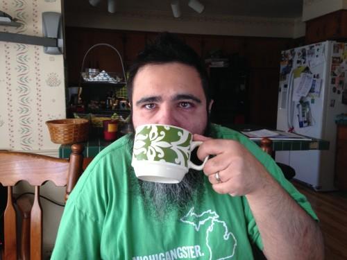 matt drinking coffee