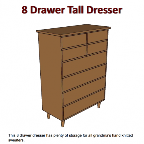 plans to build a tall dresser