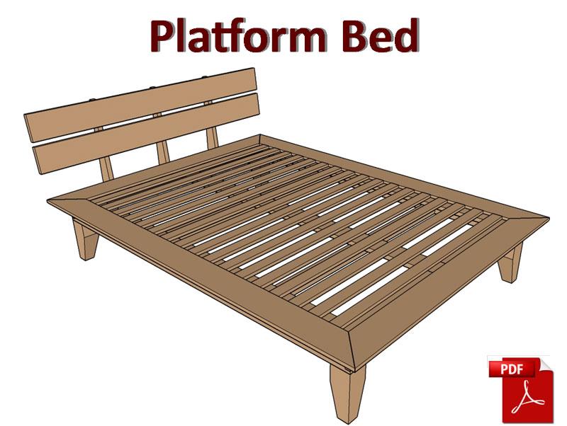 Platform Bed Plans Pdf Matt S Basement Workshop