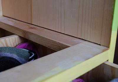 Stopped dado for the drawer frame
