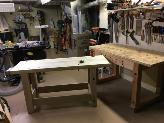 old and new workbench