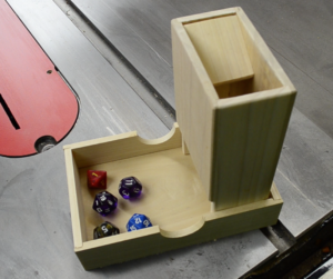 poplar, dice tower, dice tray
